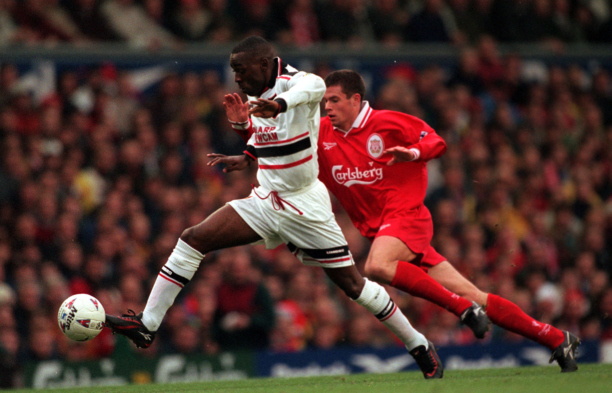 The Liverpool FCManchester United FC rivalry also known as the North West Derby is a highprofile intercity rivalry between English professional association