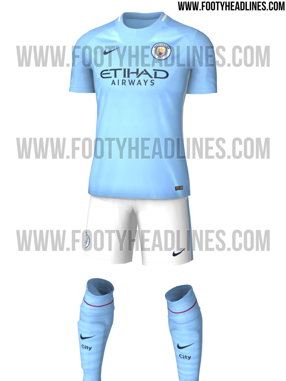 newest 138e8 cb661 PHOTOS: Manchester City's 2017/18 home and away kits revealed