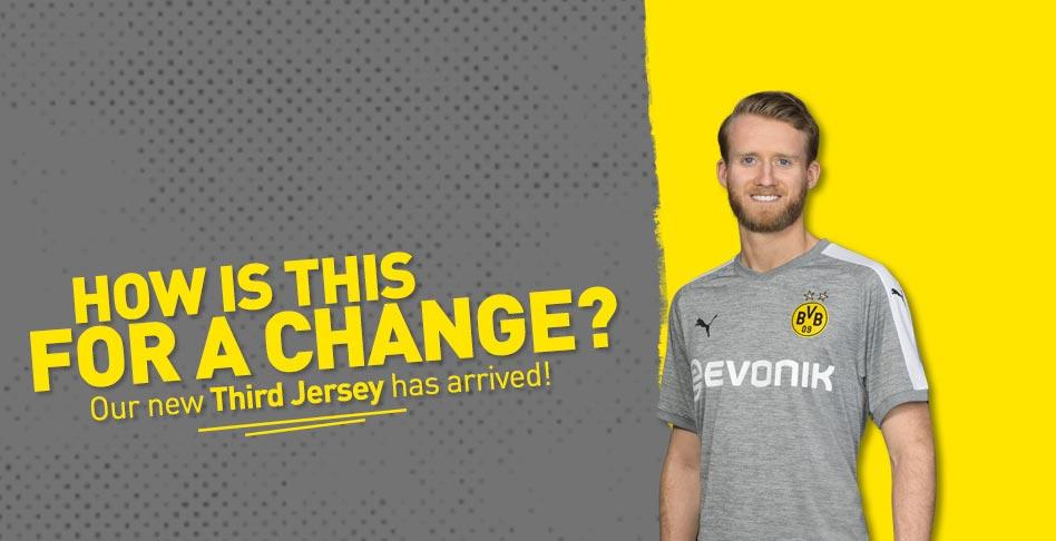timeless design 25b67 85c5f Borussia Dortmund's new third kit will leave you feeling grey