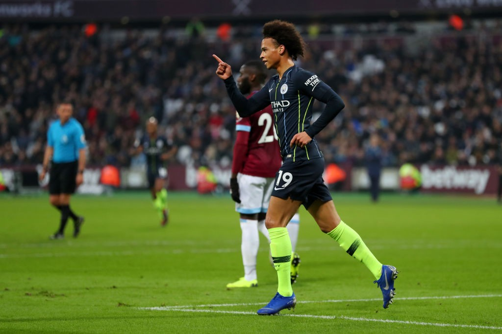 Sane at the double to ensure City finish top of the pile
