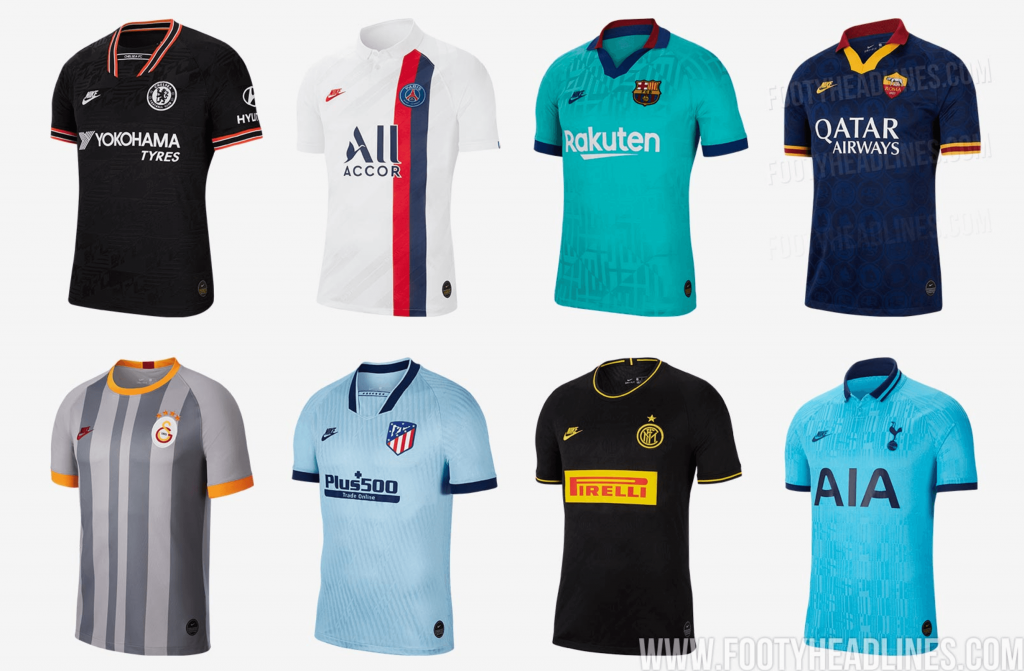 📸 Ranking all the newly released Nike 2019/20 third kits