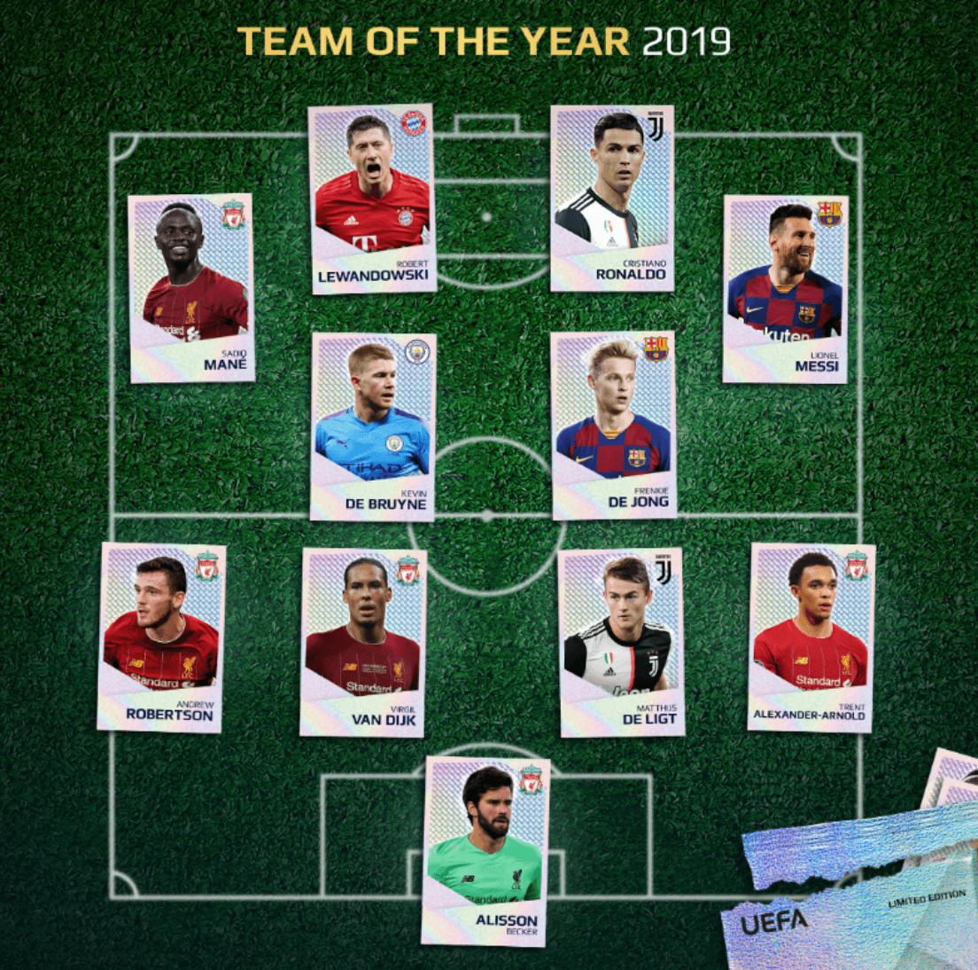 Αποτέλεσμα εικόνας για uefa champions league team of the year 2019