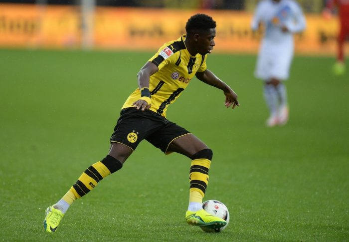 ALTACH, AUSTRIA - AUGUST 05: Ousmane Dembele of Dortmund in action during the friendly match between AFC Sunderland v Borussia Dortmund at Cashpoint Arena on August 5, 2016 in Altach, Austria. (Photo by Deniz Calagan/Getty Images)