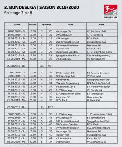 🚨 2. Bundesliga: DFL terminiert bis zum 8. Spieltag