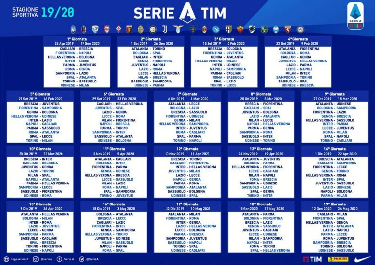 Calendario Ac Milan.Ya Hay Calendario De La Serie A 2019 20 Onefootball