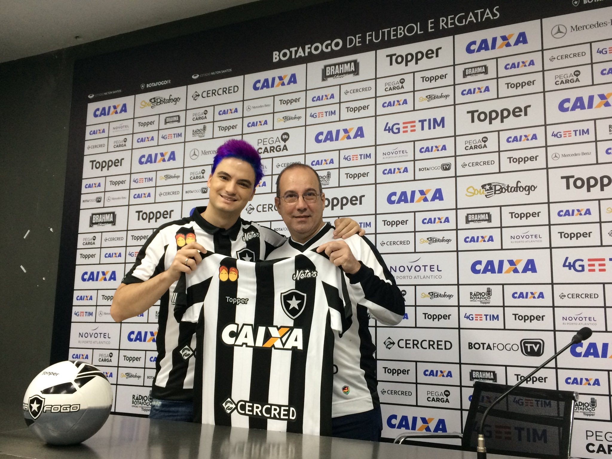 Botafogo terá patrocínio dos irmãos Neto contra o Palmeiras 761f547e784a9