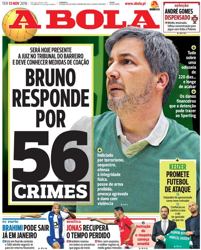 🗞A detenção de Bruno de Carvalho e os motivos para o descalabro