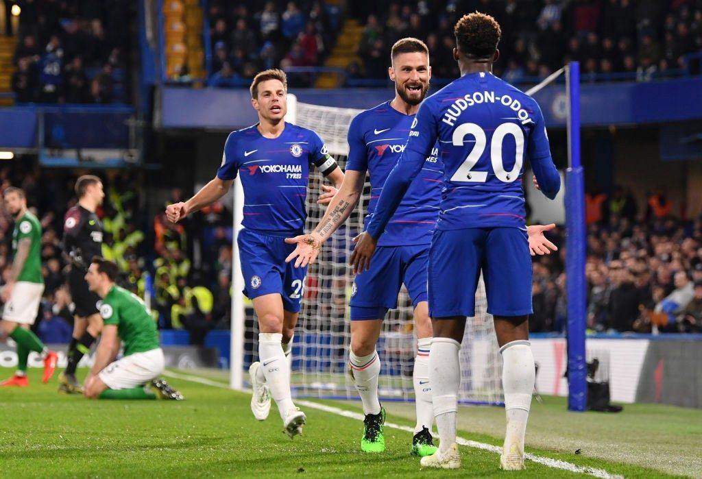 Grâce à Giroud et Hazard, Chelsea déroule face à Brighton